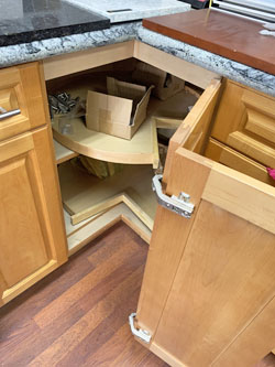 Custom Cabinets showing a Lazy Susan made for a Aina Haina Home in Honolulu