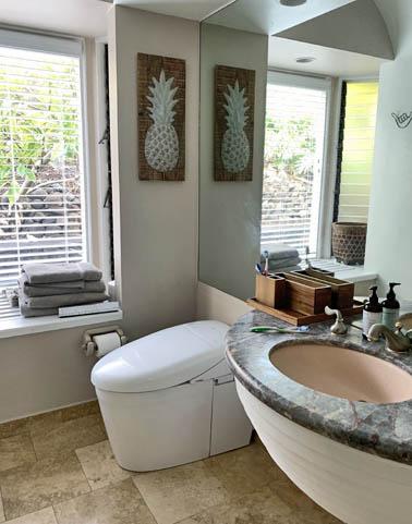 Bathroom remodel Kapolei, HI. New flooring, shower, and vanities